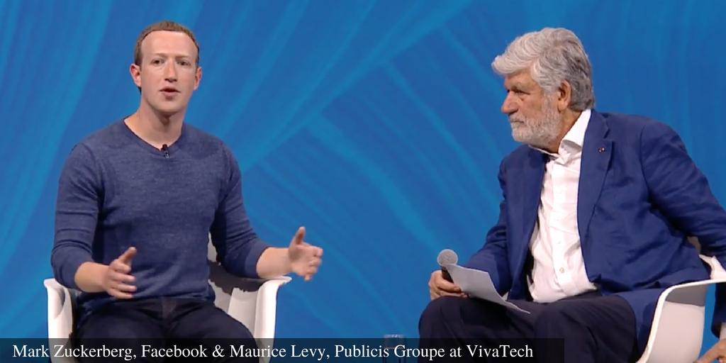 Mark Zuckerberg, Facebook & Maurice Levy, Publicis Groupe at VivaTech